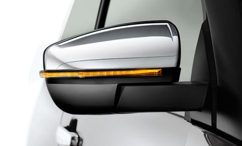 Large rear-view mirror with indicator